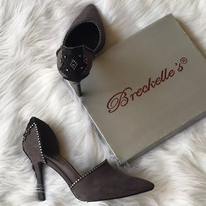 Breckelles Shoes - Custom Suede Skilleto Heels